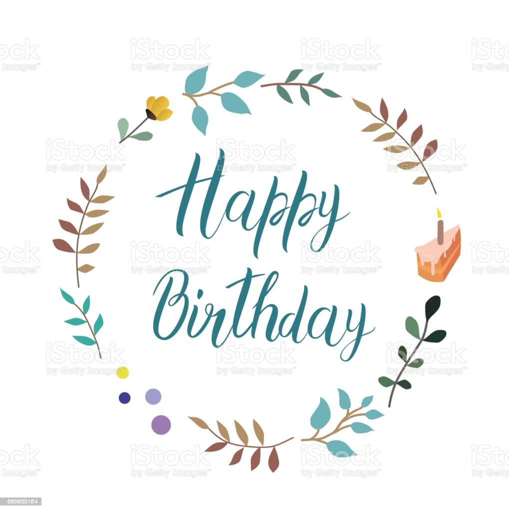 Happy birthday vector text handmade calligraphy and lettering royalty-free happy birthday vector text handmade calligraphy and lettering stock vector art & more images of abstract