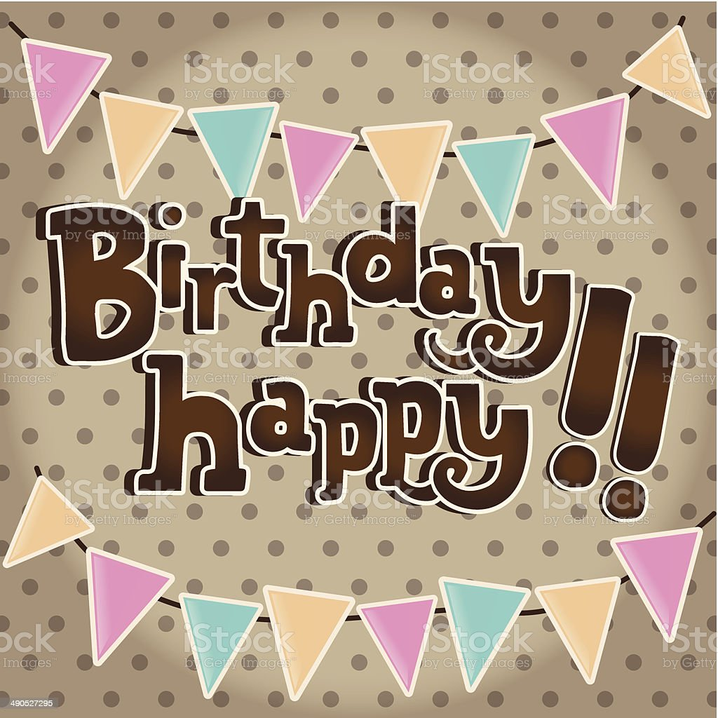 Happy birthday vintage card stock vector art more images of happy birthday vintage card royalty free happy birthday vintage card stock vector art amp bookmarktalkfo Image collections
