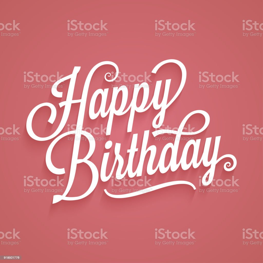 Alles Gute Zum Geburtstag Vintage Schriftzug Geburtstag Karte