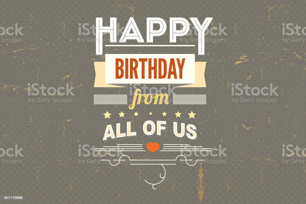 Happy Birthday Vintage Poster Grunge Stock Vector Art More Images