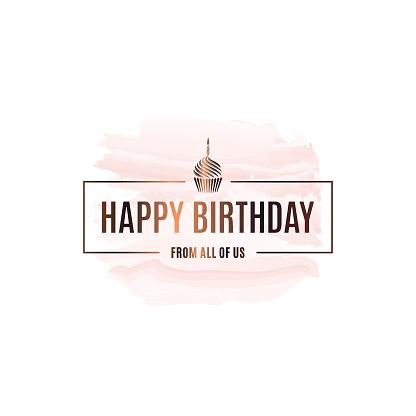 Happy birthday watercolor background