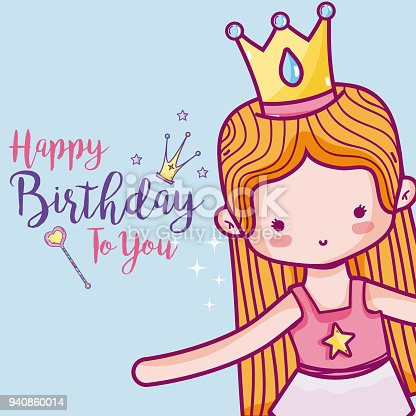 Happy Birthday With Cute Ballet Dancer Card Stock Vector Art More