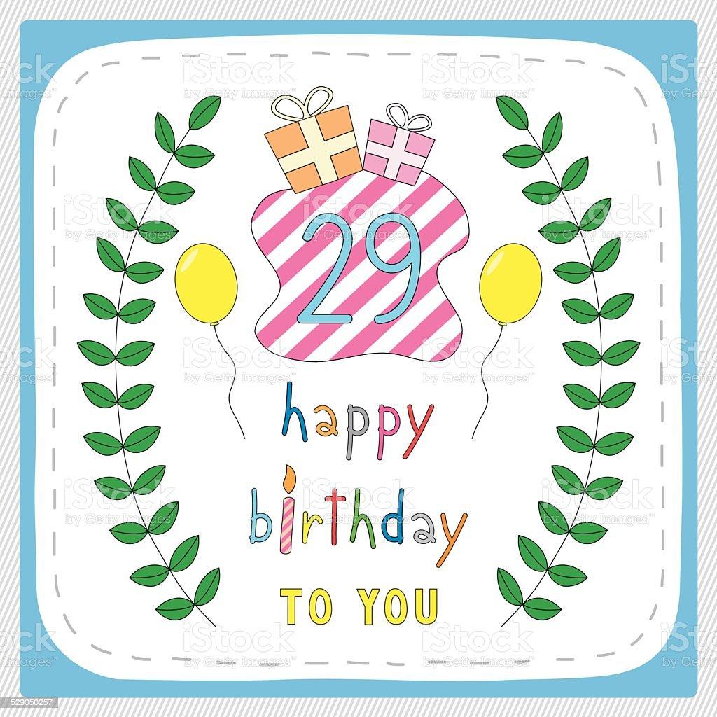 Happy birthday29 vector art illustration