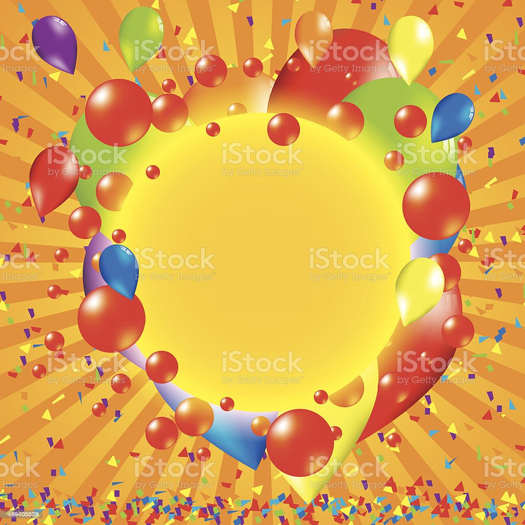Happy bithday background with balloon royalty-free stock vector art