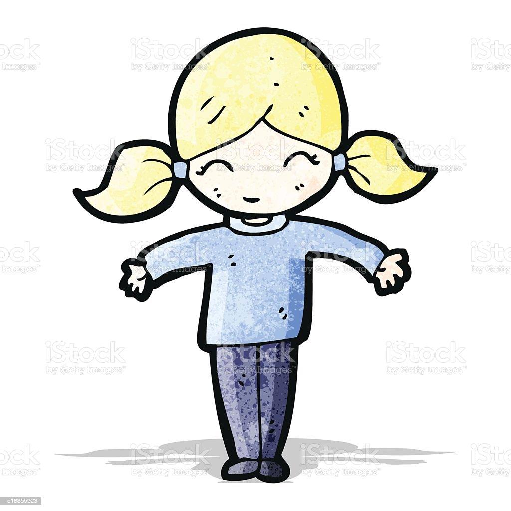 heureuse petite fille blonde en dessin anim heureuse petite fille blonde en dessin anim cliparts - Dessin De Petite Fille