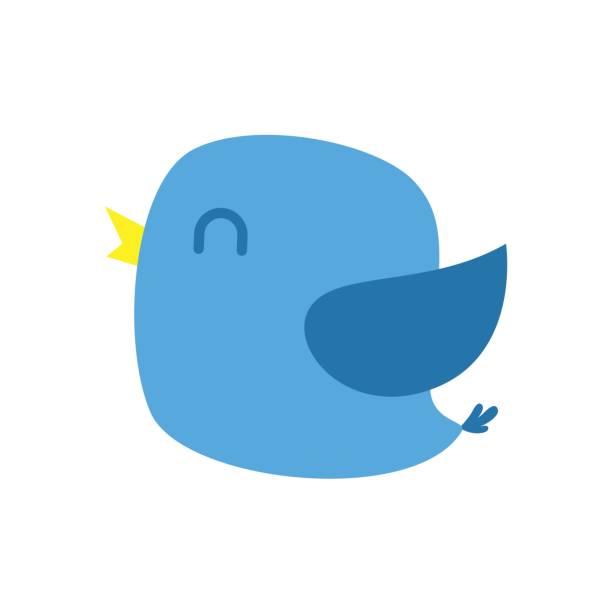 happy blue bird vector - whatsapp stock illustrations, clip art, cartoons, & icons