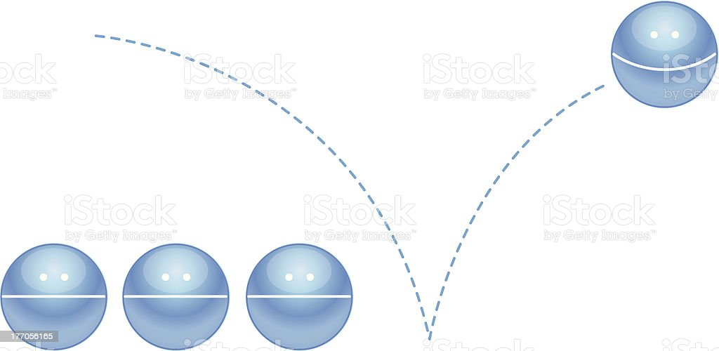 Happy Bouncing Ball vector art illustration