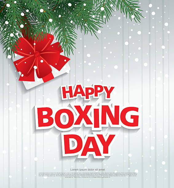 Royalty free boxing day clip art vector images illustrations istock happy boxing day greeting card vector art illustration m4hsunfo