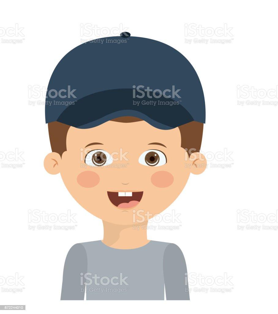 Ilustración De Diseño De Dibujos Animados De Niño Feliz Y Más Banco