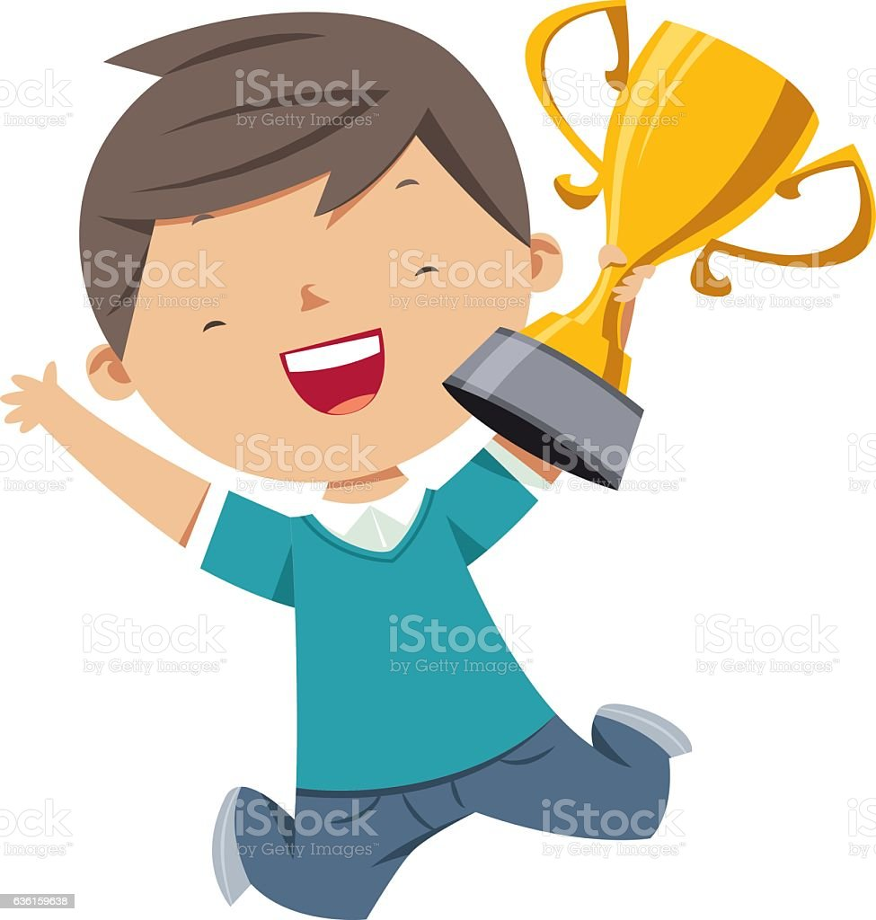 royalty free kids trophy clip art vector images illustrations rh istockphoto com clipart trophy black and white clip art trophy images