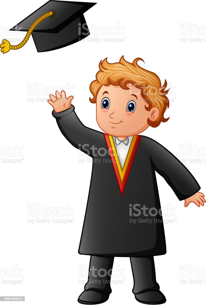 royalty free preschool graduation cap and gown clip art vector rh istockphoto com cap and gown clip art free cap and gown clip art for graduation