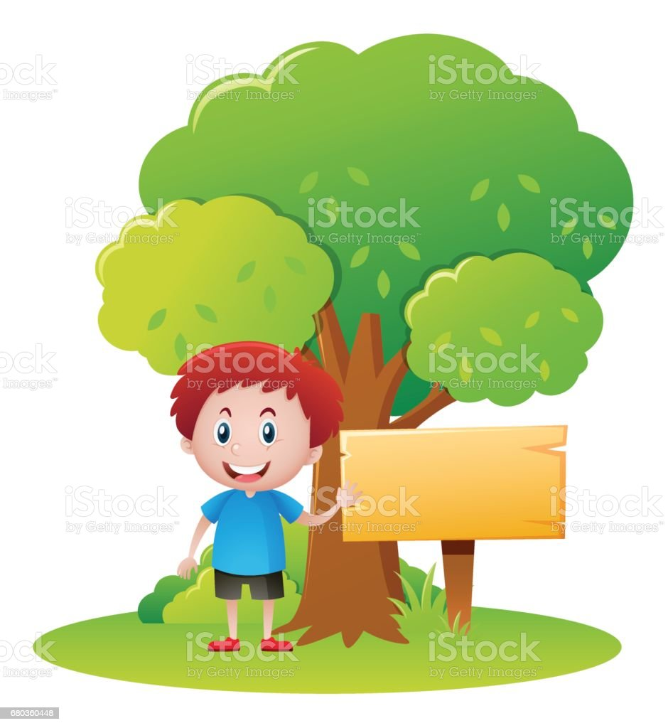 Happy boy in the park royalty-free happy boy in the park stock vector art & more images of art