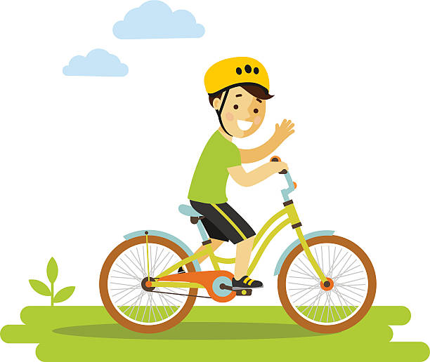 Best Boy Riding Bike Illustrations, Royalty-Free Vector ...