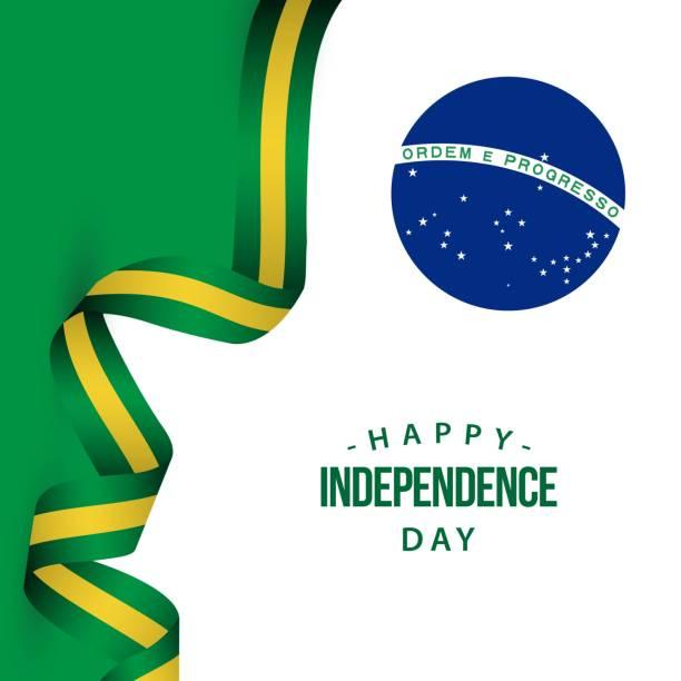 巴西獨立日快樂向量範本設計示意圖 - 獨立 幅插畫檔、美工圖案、卡通及圖標