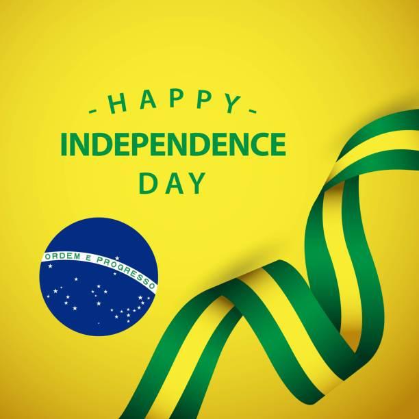 快樂巴西獨立日向量範本設計插圖 - 獨立 幅插畫檔、美工圖案、卡通及圖標
