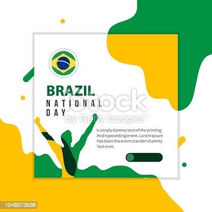 Happy Brazil National Day Vector Template Design Illustration