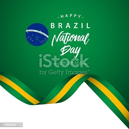 Happy Brazil National Day Vector Template Illustration