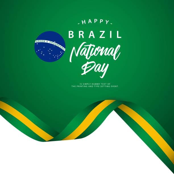 ilustrações, clipart, desenhos animados e ícones de ilustração de modelo em vetor brasil feliz dia nacional - brazil
