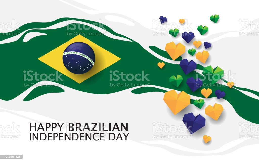 Happy brazilian independence day vector art illustration