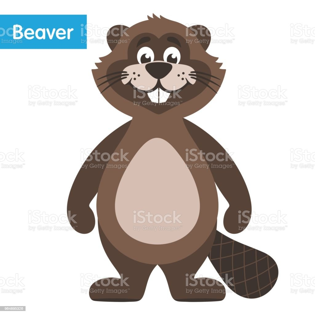 Happy brown beaver. royalty-free happy brown beaver stock vector art & more images of animal