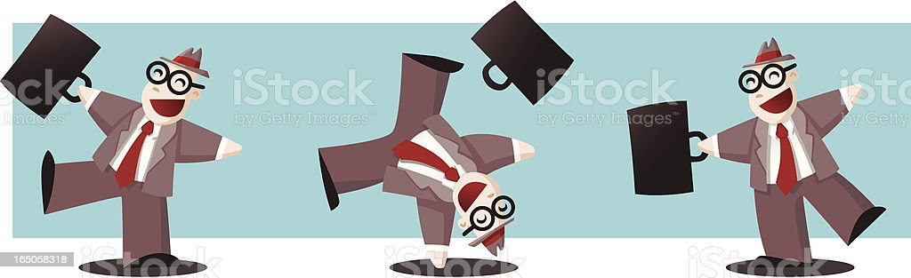 Happy Businessman royalty-free happy businessman stock vector art & more images of achievement