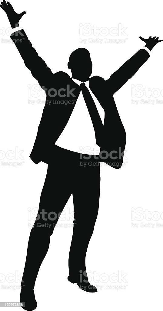 Happy Businessman vector art illustration
