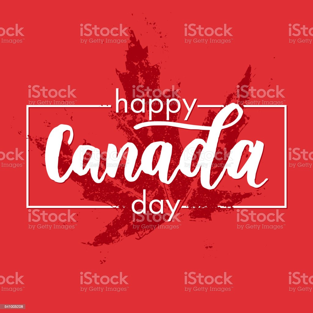 happy canada day greeting card poster vector art illustration