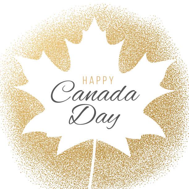 Happy Canada Day Greeting Card. Happy Canada Day Greeting Card. - Illustration canada day stock illustrations