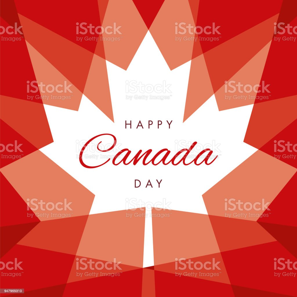 Happy Canada Day Greeting Card vector art illustration