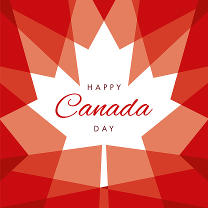 Happy Canada Day Greeting Card Stock Illustration - Download Image Now