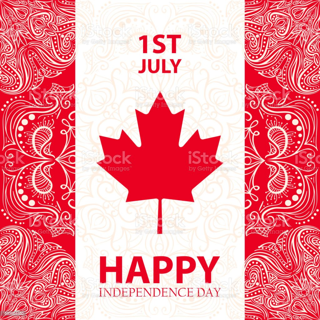 Happy Canada day. Happy Independence day vector art illustration