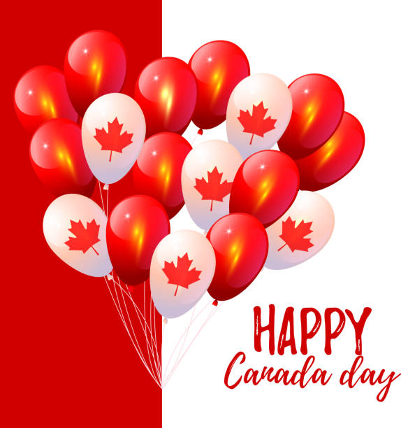 happy canada day. happy independence day - canada day stock illustrations