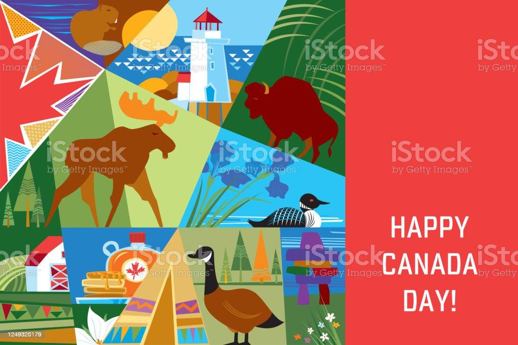 Happy Canada Day! - Royalty-free Alberta stock vector