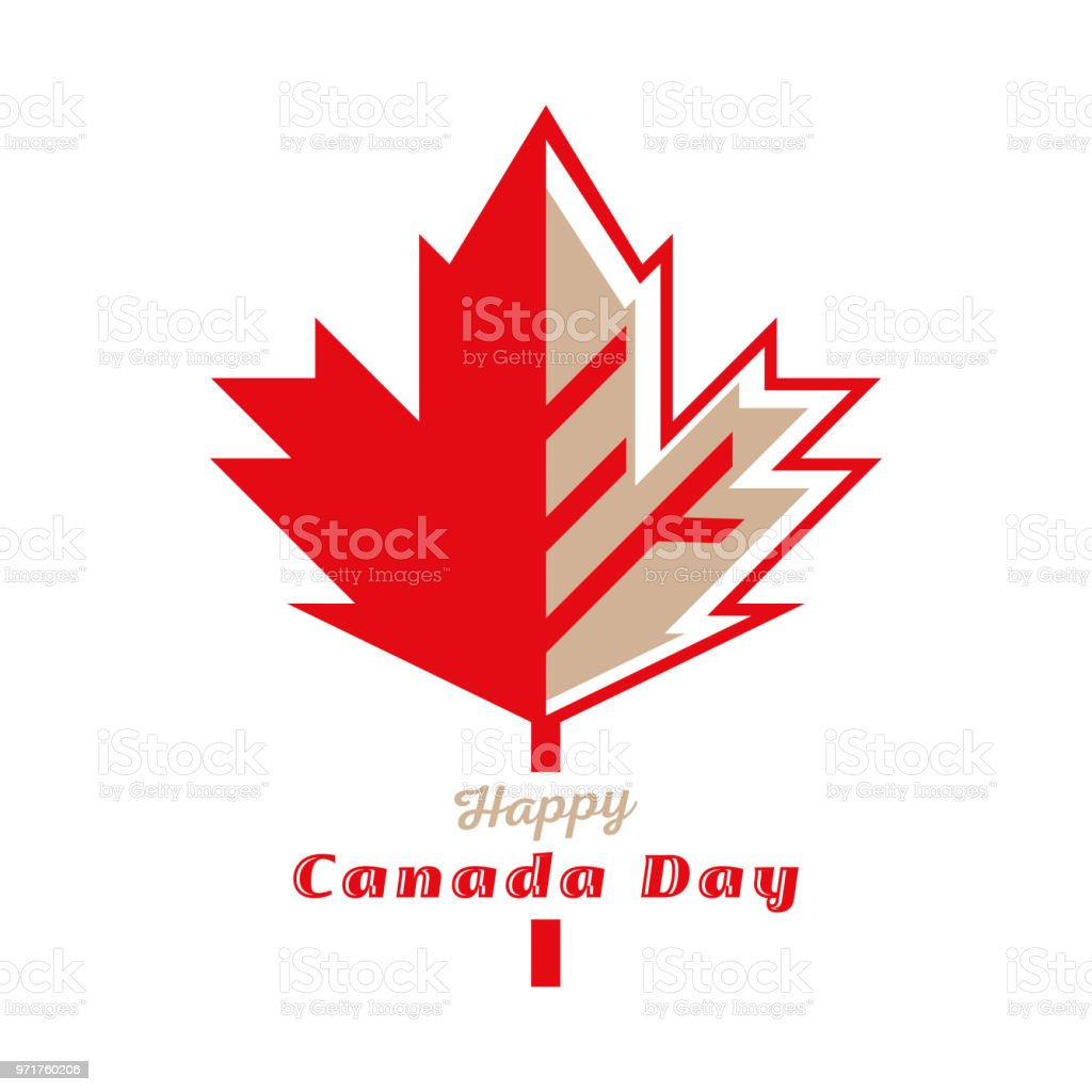 Happy Canada Day vector art illustration