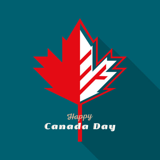 Happy Canada Day vector art illustration