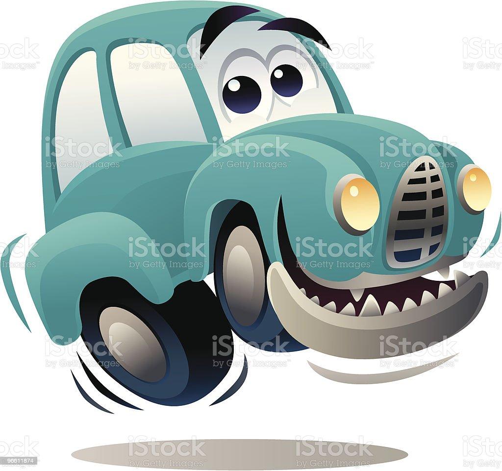 happy car - Royaltyfri Antropomorfistiskt smileyansikte vektorgrafik