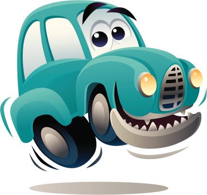 Happy Car-vektorgrafik och fler bilder på Antropomorfistiskt smileyansikte