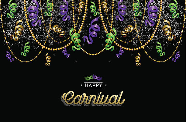 happy carnival design background decoration - mardi gras stock illustrations, clip art, cartoons, & icons