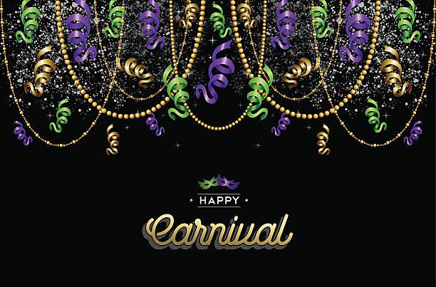 illustrations, cliparts, dessins animés et icônes de heureux arrière-plan de conception de décoration carnaval - mardi gras