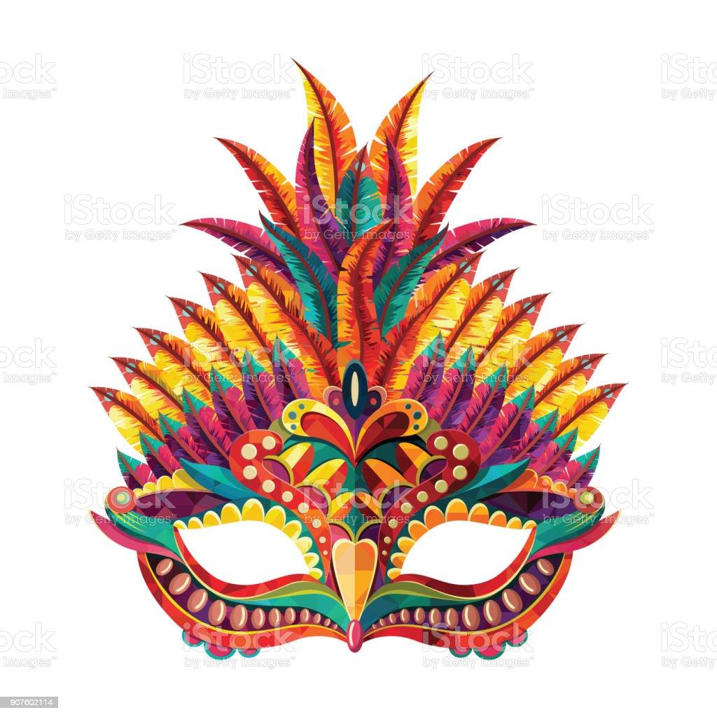 ハッピー カーニバル音楽トランペット マスクとお祭りのコンセプトです。カーニバル マスク。ベクトル図 ベクターアートイラスト