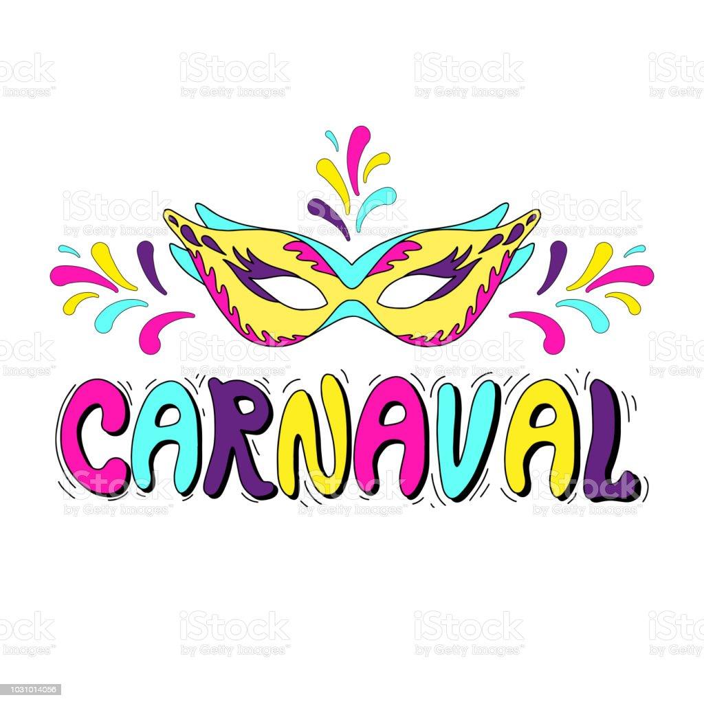 Ilustración De Feliz Ilustración Festivo De Carnaval Mano