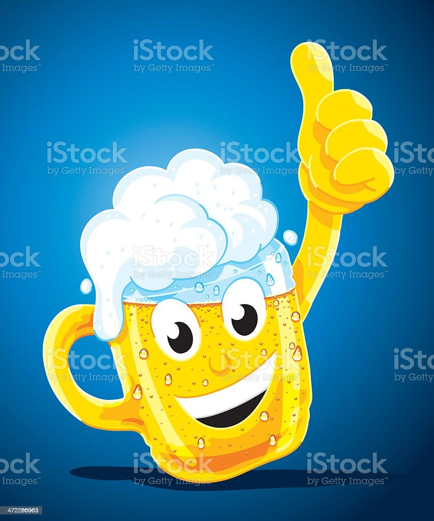 Happy Cartoon Beer Stein Character royalty-free happy cartoon beer stein character stock vector art & more images of activity