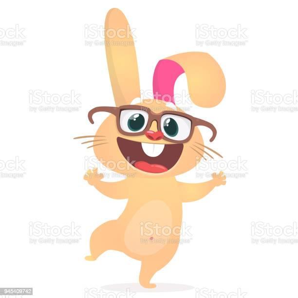 Happy cartoon bunny wearing eyeglasses vector illustration of a vector id945409742?b=1&k=6&m=945409742&s=612x612&h=oxkvdaojpeltk14k niopn3fx boc1ckl6rwmmipijs=