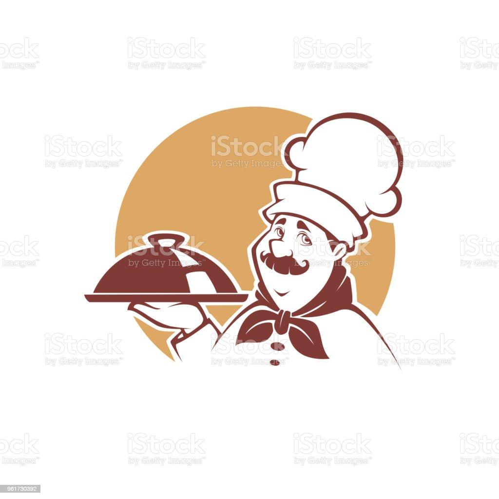 Ilustración De Retrato De Feliz De Dibujos Animados Chef