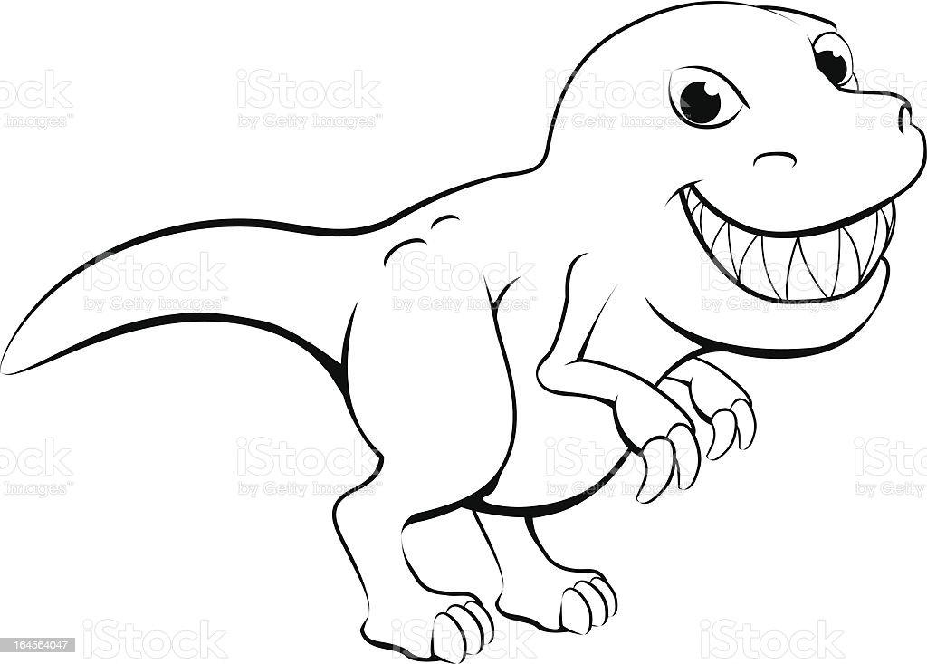 Happy cartoon dinosaur royalty-free stock vector art