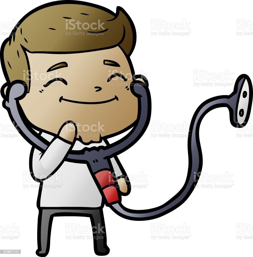 happy cartoon doctor