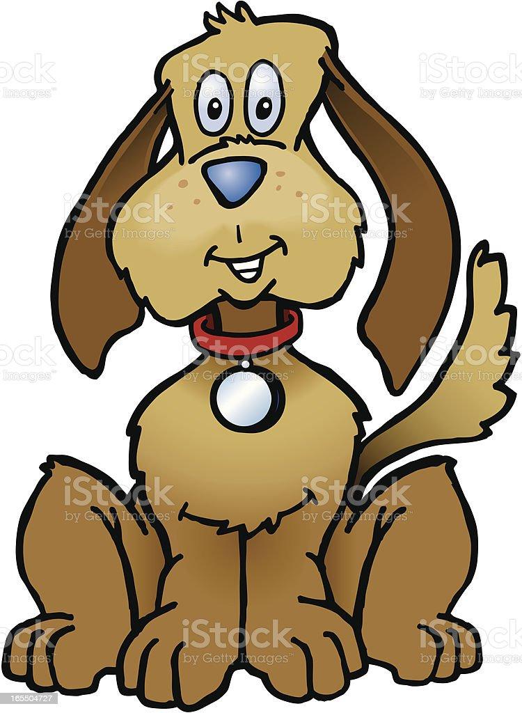 Happy cartoon dog vector art illustration