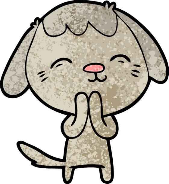 행복함 말풍선이 있는 경견 - 강아지 실루엣 stock illustrations