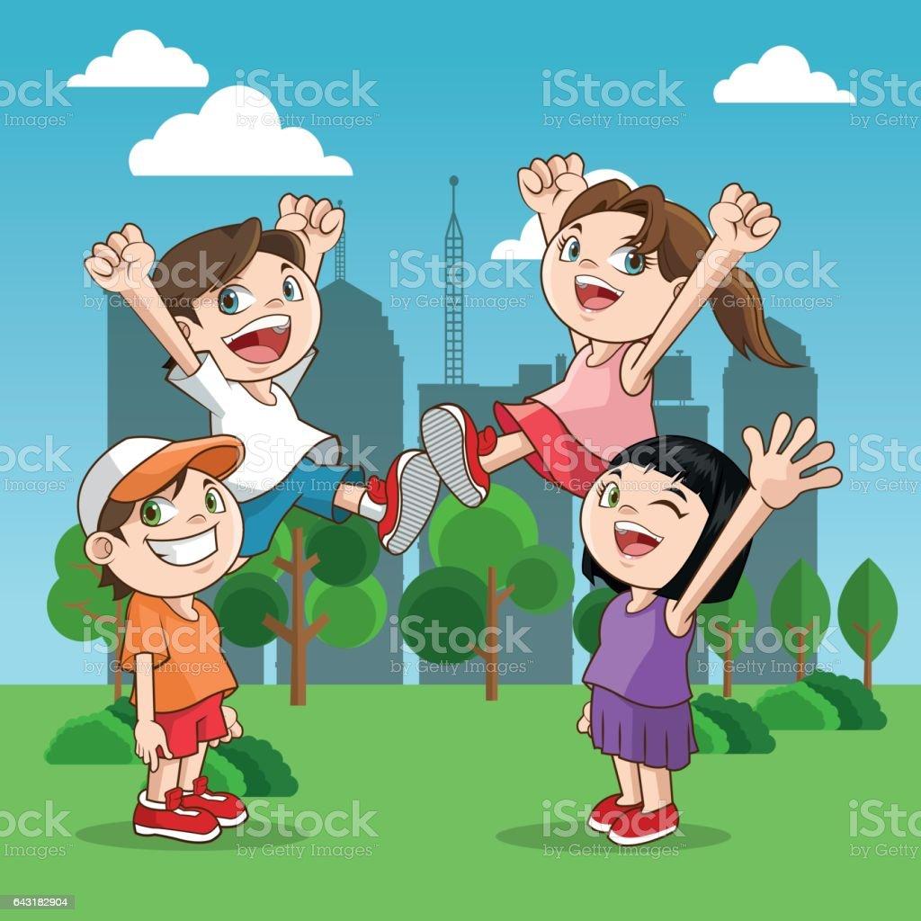 Vetores De Feliz Desenho Crianca Desenho Colorido E Mais Imagens