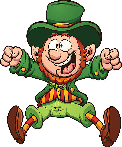 Royalty free leprechaun clip art vector images illustrations istock happy cartoon leprechaun vector art illustration altavistaventures